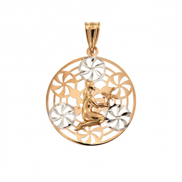 Rose gold Virgo pendant ARH-M-05