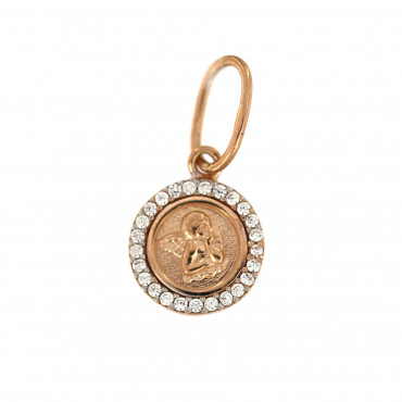 Rose gold angel pendant ARA02-02
