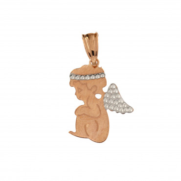 Rose gold angel pendant ARA01-03