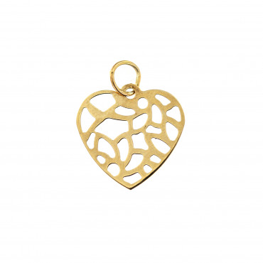 Yellow gold heart pendant AGS01-20