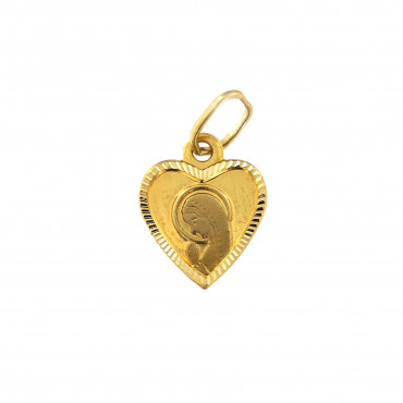 Yellow gold icon pendant AGM05-01