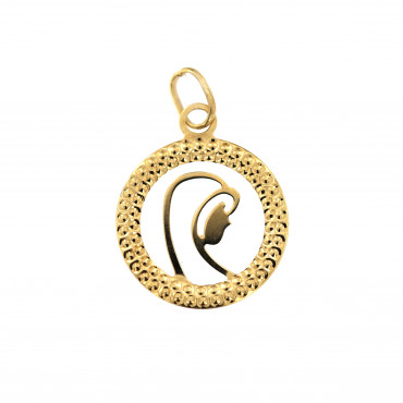 Yellow gold icon pendant AGM01-03