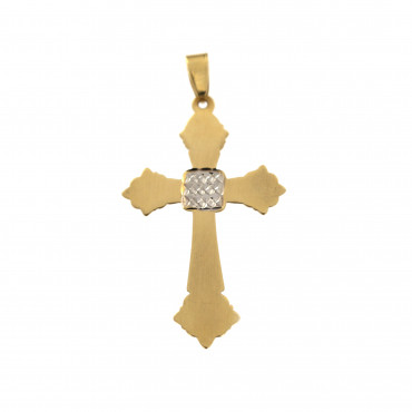 Yellow gold cross pendant AGK05-04