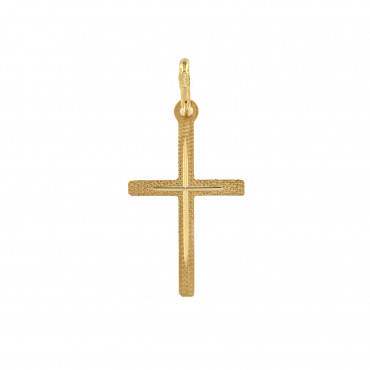 Yellow gold cross pendant AGK01-09