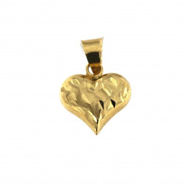 Yellow gold heart pendant AGS01-01