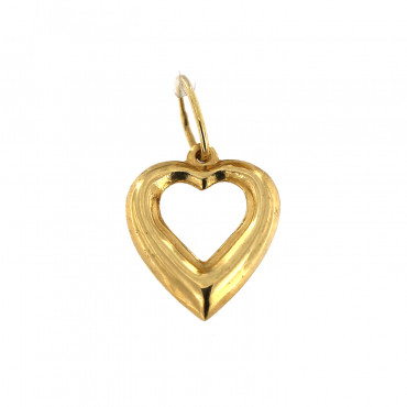 Yellow gold heart pendant AGS01-02