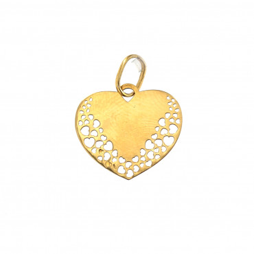 Yellow gold heart pendant AGS01-05
