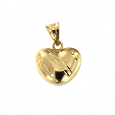 Yellow gold heart pendant AGS01-06