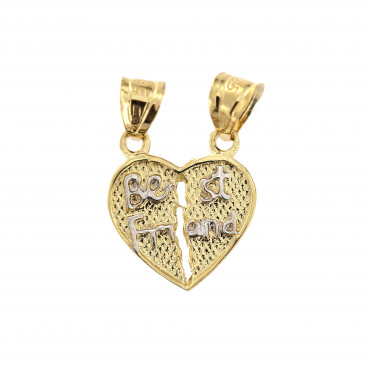 Yellow gold heart pendant AGS01-08