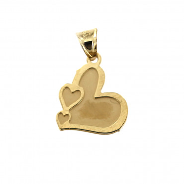 Yellow gold heart pendant AGS01-12