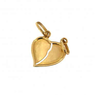 Yellow gold heart pendant AGS01-15