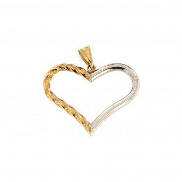 Yellow gold heart pendant AGS01-16