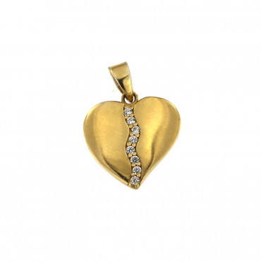 Yellow gold heart pendant AGS02-05