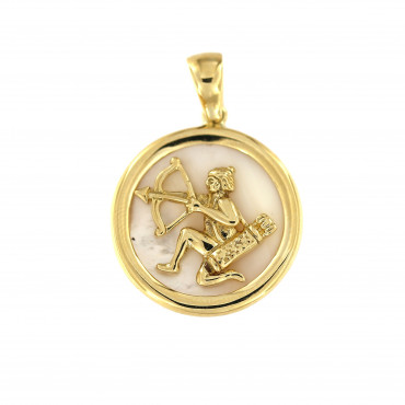 Yellow gold Saggitarius pendant AGH-Š-01