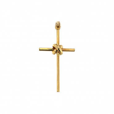 Yellow gold cross pendant AGK01-11