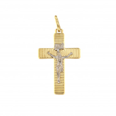 Yellow gold cross pendant AGK02-01
