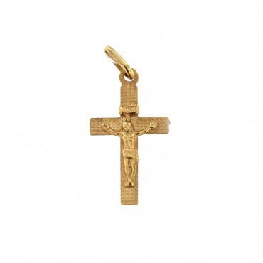 Yellow gold cross pendant AGK02-03