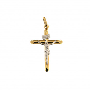 Yellow gold cross pendant AGK02-04