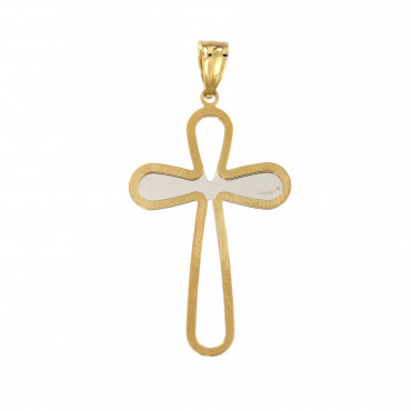 Yellow gold cross pendant AGK03-01