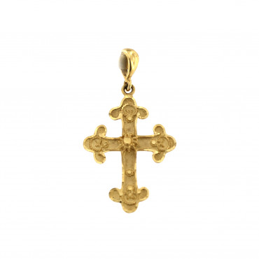 Yellow gold cross pendant AGK03-03