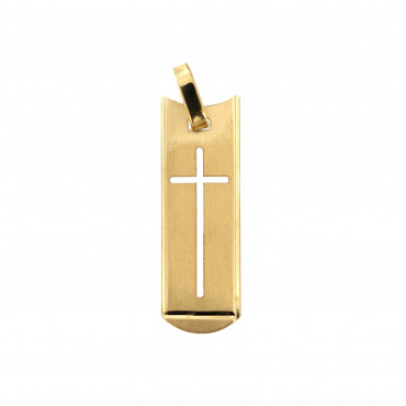 Yellow gold cross pendant AGK04-02
