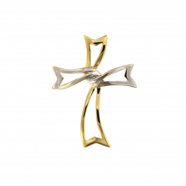Yellow gold cross pendant AGK05-01
