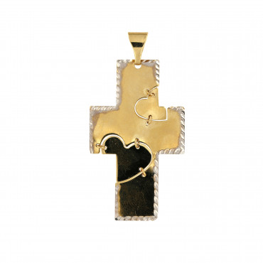 Yellow gold cross pendant AGK05-02