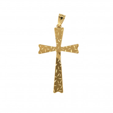 Yellow gold cross pendant AGK05-03