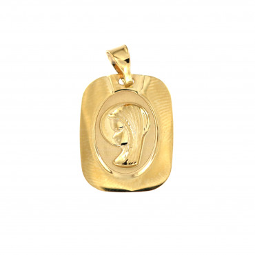 Yellow gold icon pendant AGM03-01
