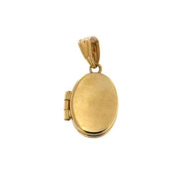 Yellow gold medallion pendant AGMED01