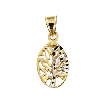 Yellow gold tree of life pendant AGT01-01
