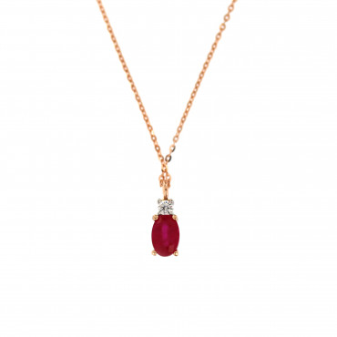Rose gold pendant necklace CPR-RO-01-1