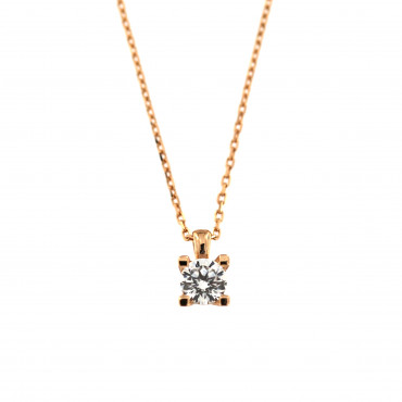 Rose gold pendant necklace CPR01-02