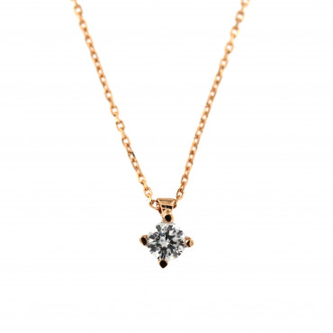 Rose gold pendant necklace CPR01-03