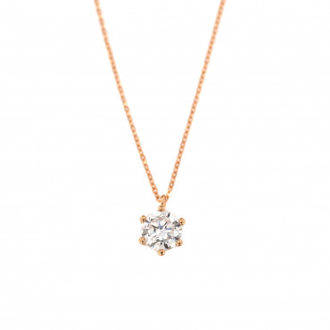 Rose gold pendant necklace CPR02-02