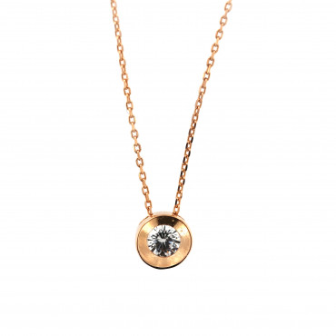 Rose gold pendant necklace CPR03-01