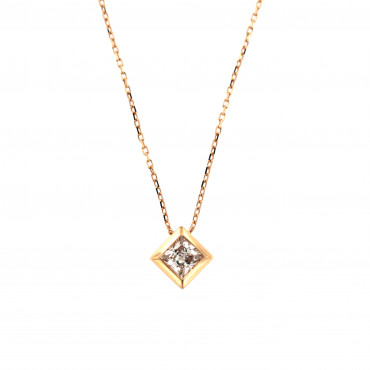Rose gold pendant necklace CPR04-01