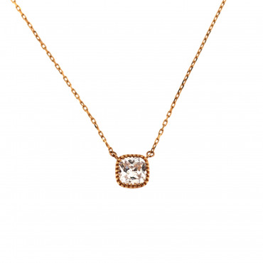 Rose gold pendant necklace CPR04-02