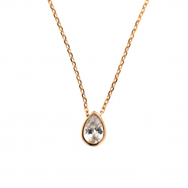 Rose gold pendant necklace CPR05-02