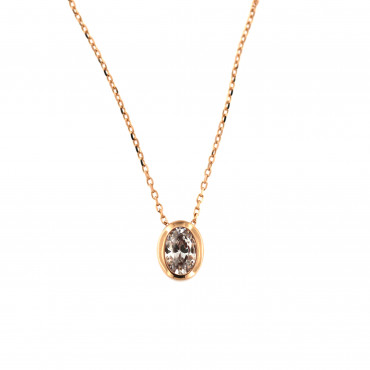 Rose gold pendant necklace CPR05-03