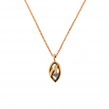 Rose gold pendant necklace CPR06-01