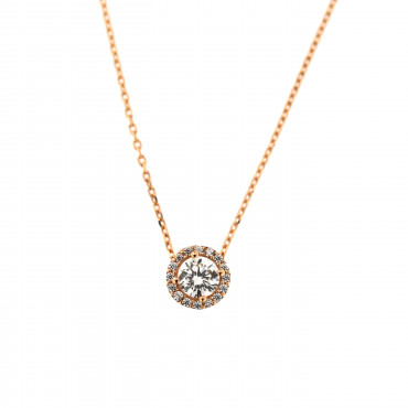 Rose gold pendant necklace CPR07-01