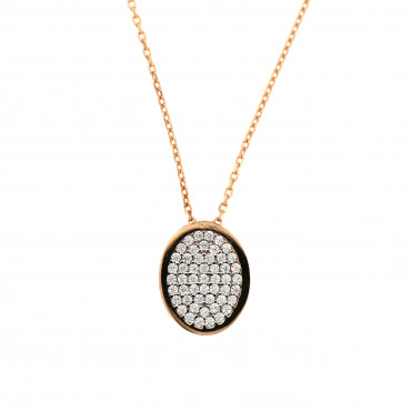 Rose gold pendant necklace CPR08-01