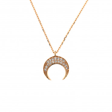 Rose gold pendant necklace CPR08-02