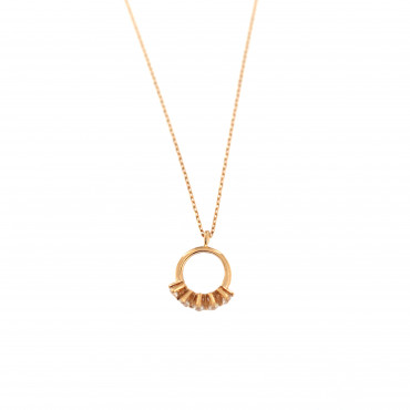 Rose gold pendant necklace CPR09-01