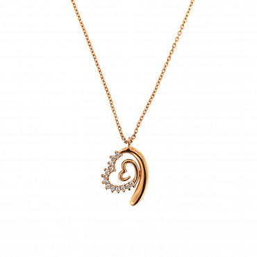 Rose gold pendant necklace CPR10-01