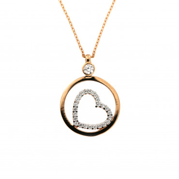 Rose gold pendant necklace CPR10-02