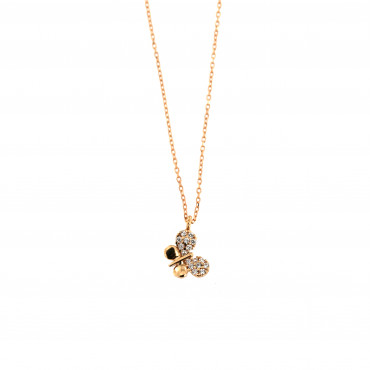 Rose gold pendant necklace CPR13-01