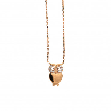 Rose gold pendant necklace CPR15-01