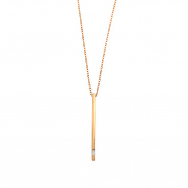 Rose gold pendant necklace CPR21-01